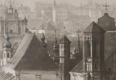 Jan Bułhak, Wilno - widok ogólny. Kościoły oo. Bernardynów, Św. Michała, Św. Jana