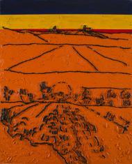 W. Strzemiński. Teoria widzenia obrazu V. van Gogha Dolina Crau (A)