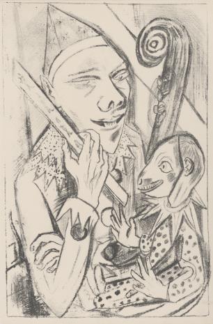 Max Beckmann, Pierrot z kukiełką
