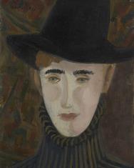 Autoportret w czarnym kapeluszu