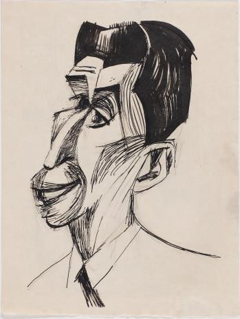 Henoch  Barczyński, Głowa. Mężczyzna we wnętrzu