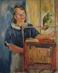 Kataryniarka z papugą
