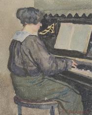 Przy pianinie
