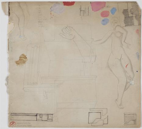 Henryk Stażewski, Szkice obrazów, mebli i aktu kobiecego