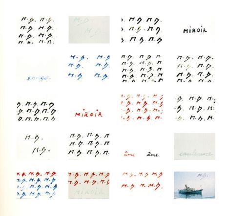 Marcel Broodthaers, Signatures / Sygnatury