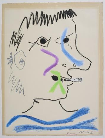 Pablo Picasso, Głowa Palacza [Tête du fumeur]