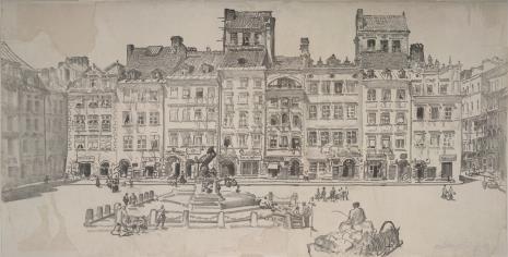Leon Wyczółkowski, Stare Miasto w Warszawie