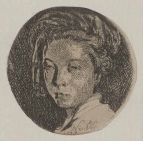 Jan Piotr Norblin de la Gourdaine, Głowa kobiety w zawoju