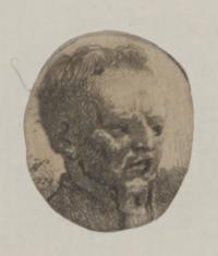 Głowa szlachcica z podgoloną czupryną
