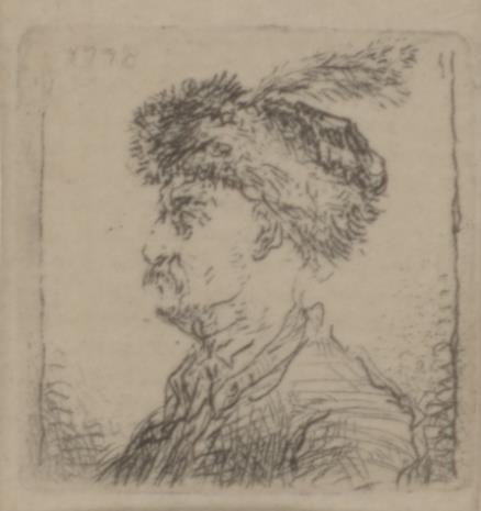 Jan Piotr Norblin de la Gourdaine, Popiersie szlachcica w kołpaku z czaplim piórem