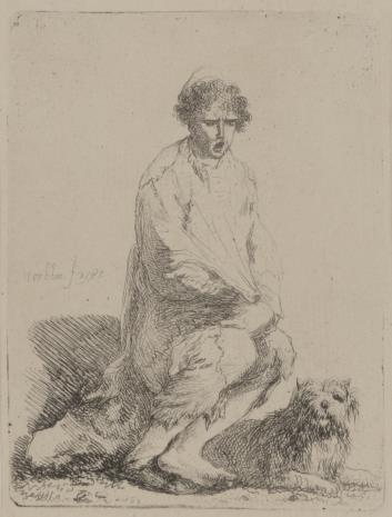 Jan Piotr Norblin de la Gourdaine, Żebrak z psem