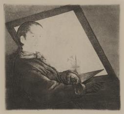 Portret własny przed ekranem