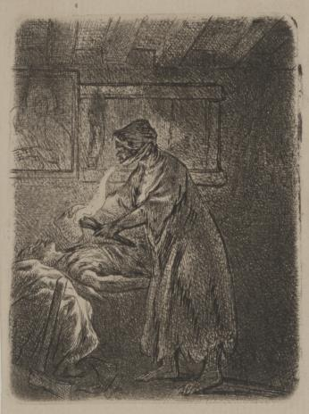 Jan Piotr Norblin de la Gourdaine, Chory drwal