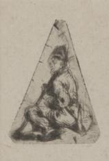 Chłopiec w czapce z piórkiem