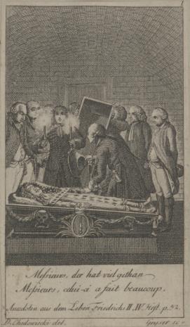 Friedrich Christian Gottlieb Geyser, Katafalk