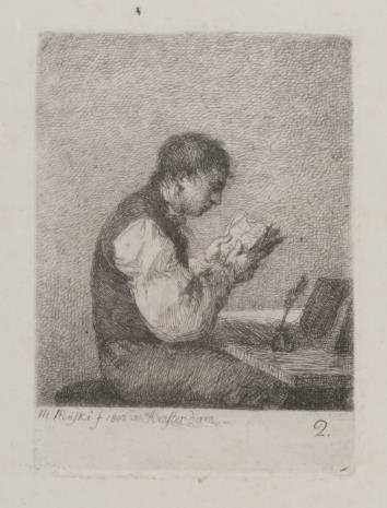 Michał Płoński, Chłopiec czytający książkę
