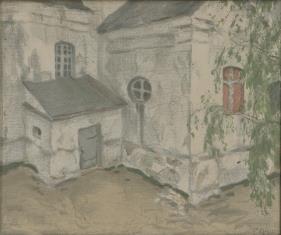 Fragment kościółka wiejskiego