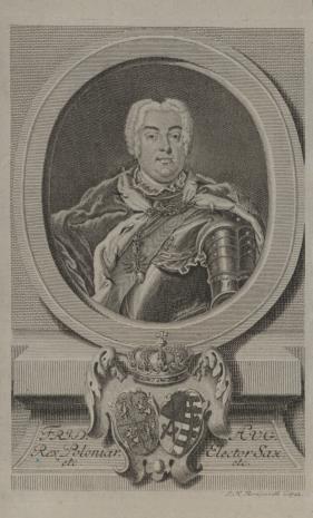 Johann Martin Bernigeroth, Fryderyk August III, elektor saski, król polski, popiersie