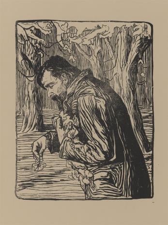 Witold Rzegociński, Mężczyzna zbierający liście