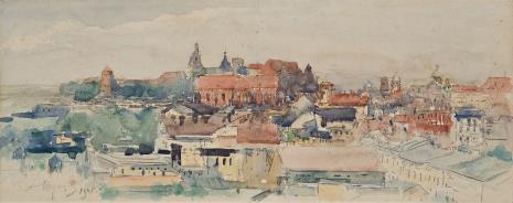 Leon Wyczółkowski, Widok Krakowa