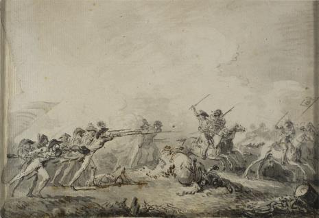 Jan Piotr Norblin de la Gourdaine, Scena batalistyczna