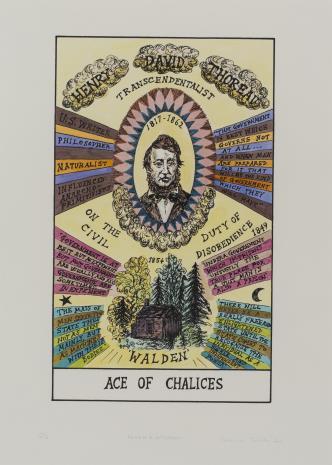 Suzanne Treister, HEXEN 2.0/Tarot/Ace of Chalices - Henry Thoreau / HEXEN 2.0/Tarot/As Kielichów - Henry Thoreau