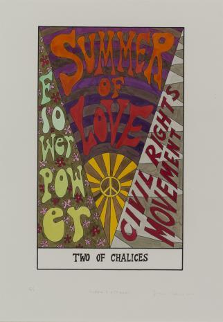 Suzanne Treister, HEXEN 2.0/Tarot/Two of Chalices - Summer of Love / HEXEN 2.0/Tarot/Dwójka Kielichów - Lato Miłości