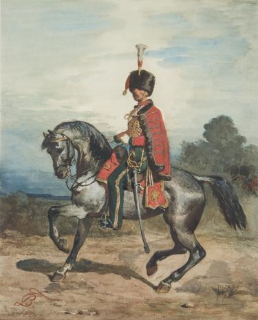 Tadeusz Brodowski, Oficer na koniu