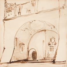 Wjazd na dziedziniec renesansowego zamku