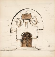 Portal zamkowy z herbami Ogończyk i Łodzia