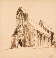 Kościół gotycki jednowieżowy