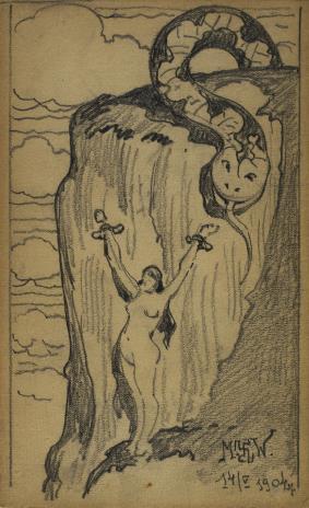 Marian Wawrzeniecki, Kobieta z wężem