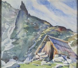 Szałas w Tatrach pod Mnichem