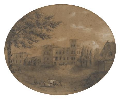 Michał Elwiro Andriolli, Pałac w Belwederze na Żmudzi