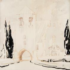 Kościół barokowy z bramą wjazdową