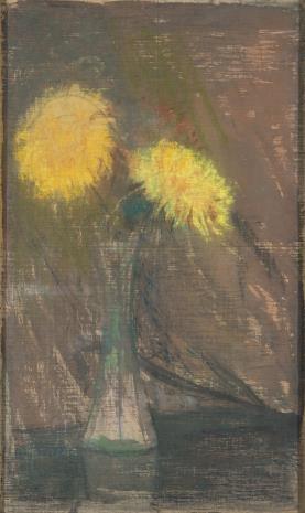 Leon Wyczółkowski, Żółte chryzantemy w wazonie