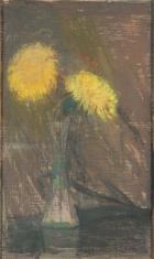 Żółte chryzantemy w wazonie