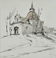 Kaplica barokowa na wzgórzu