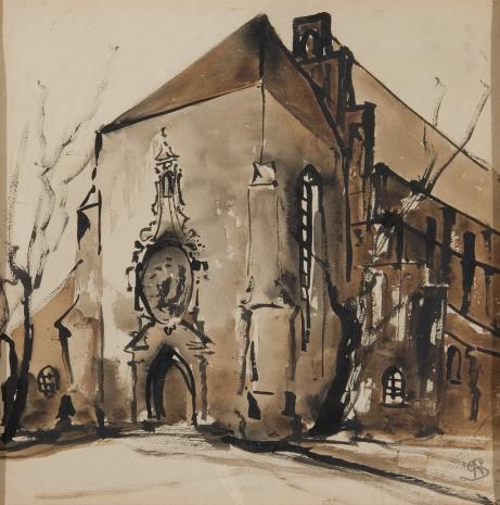 Stanisław Noakowski, Kościół gotycki od strony wejścia