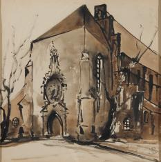 Kościół gotycki od strony wejścia