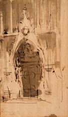 Portal gotyckiego kościoła