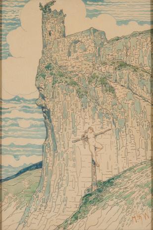 Marian Wawrzeniecki, Ukrzyżowana na tle góry z ruinami zamku