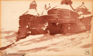Gród obronny drewniany na wzgórzu