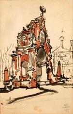 Brama w kształcie łuku triumfalnego