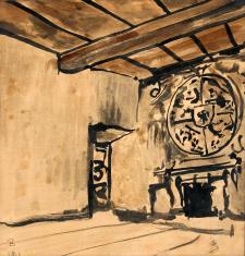 Barokowa sala z herbem Rzeczpospolitej