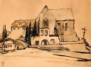 Kościół i klasztor barokowy na wzniesieniu