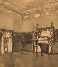 Sala barokowa z boazerią