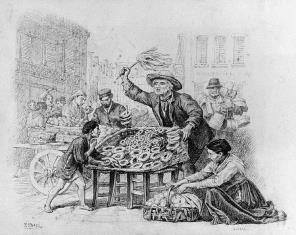 Scenka z placu targowego z Neapolu