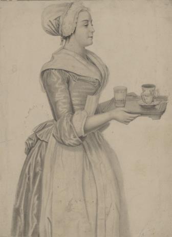 Johann Maar, Służebna niosąca tacę