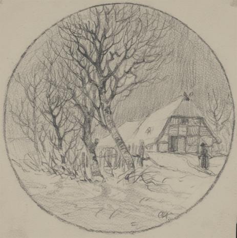 von Kamecke Otto Werner Henning, Krajobraz zimowy